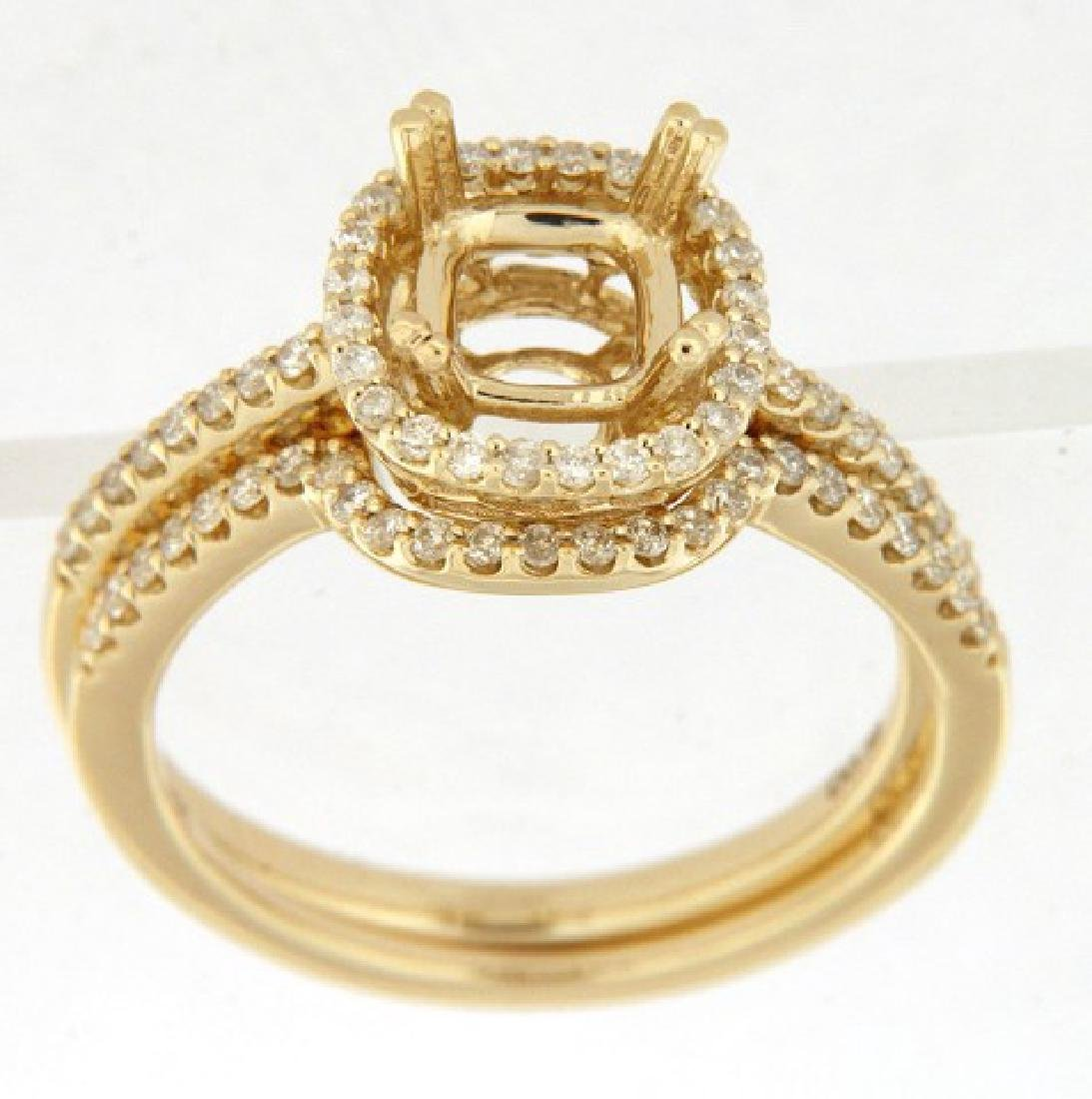 14KT Yellow Gold Ladies Diamond Ring