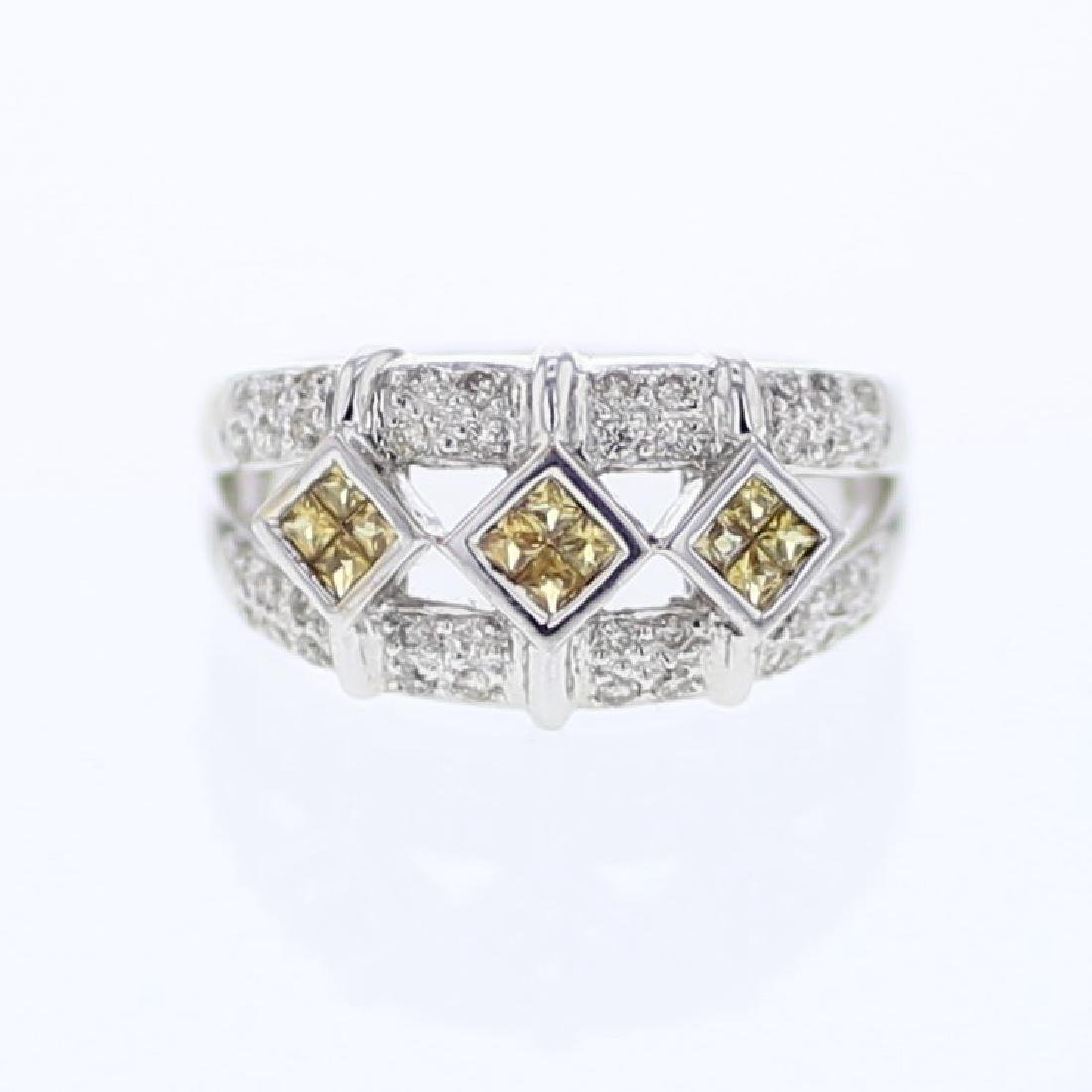 14KT White Gold Ladies Diamond Ring