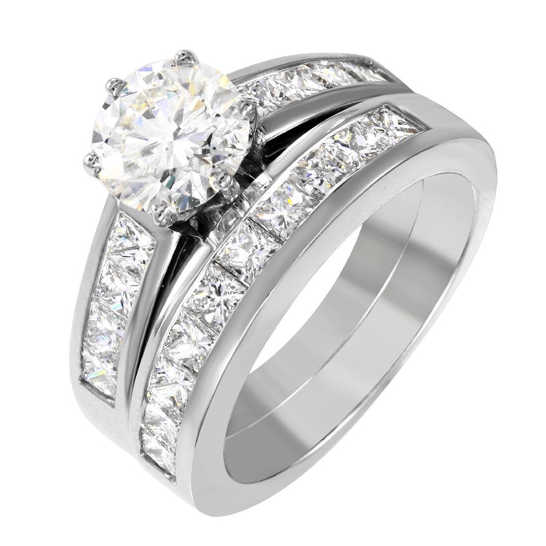 Platinum Diamond Wedding Ring Set