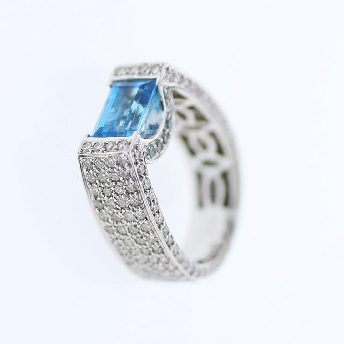 18KT White Gold Ladies Diamond and Gemstone Fashion