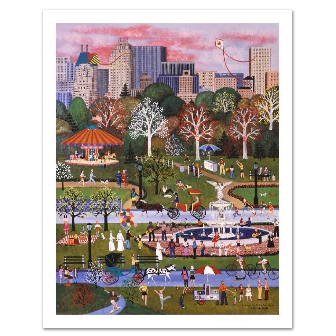 """Springtime in Central Park"" Limited Edition Lithograph"