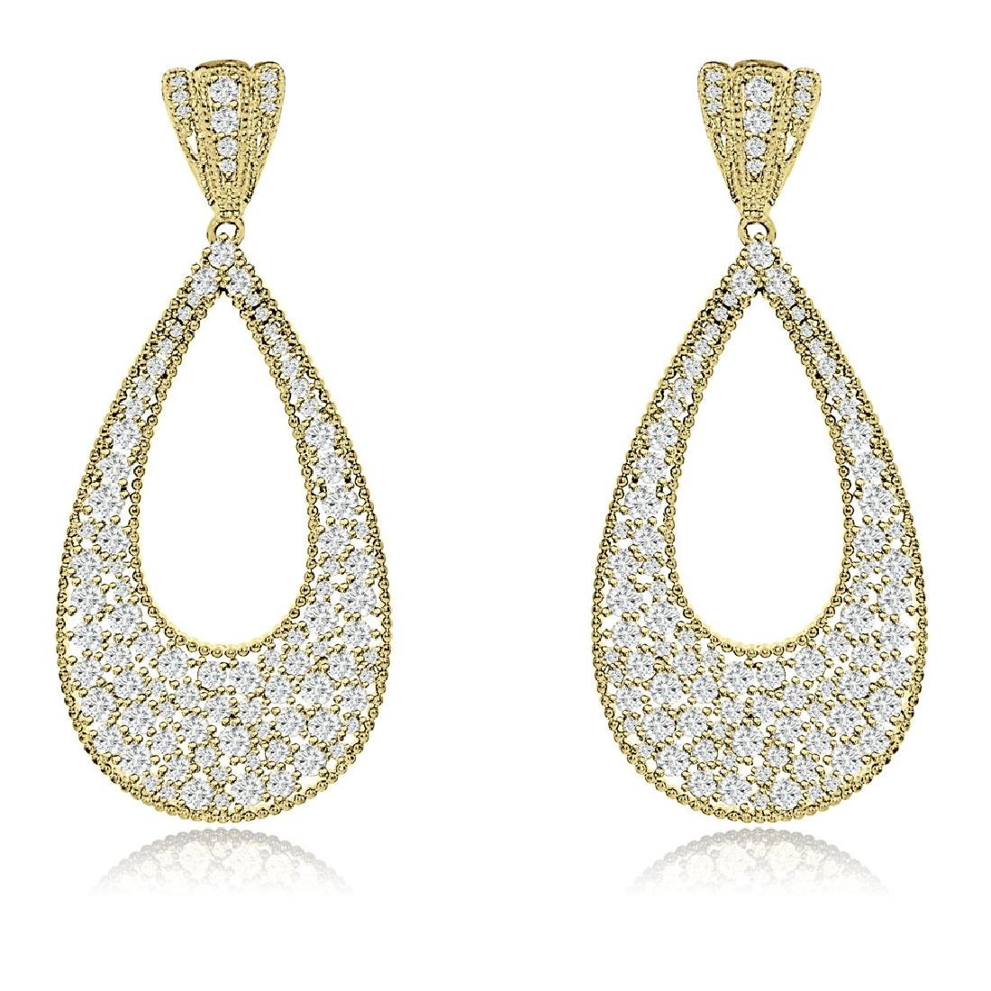 Sterling Silver Gold Plated and CZ Teardrop Dangle
