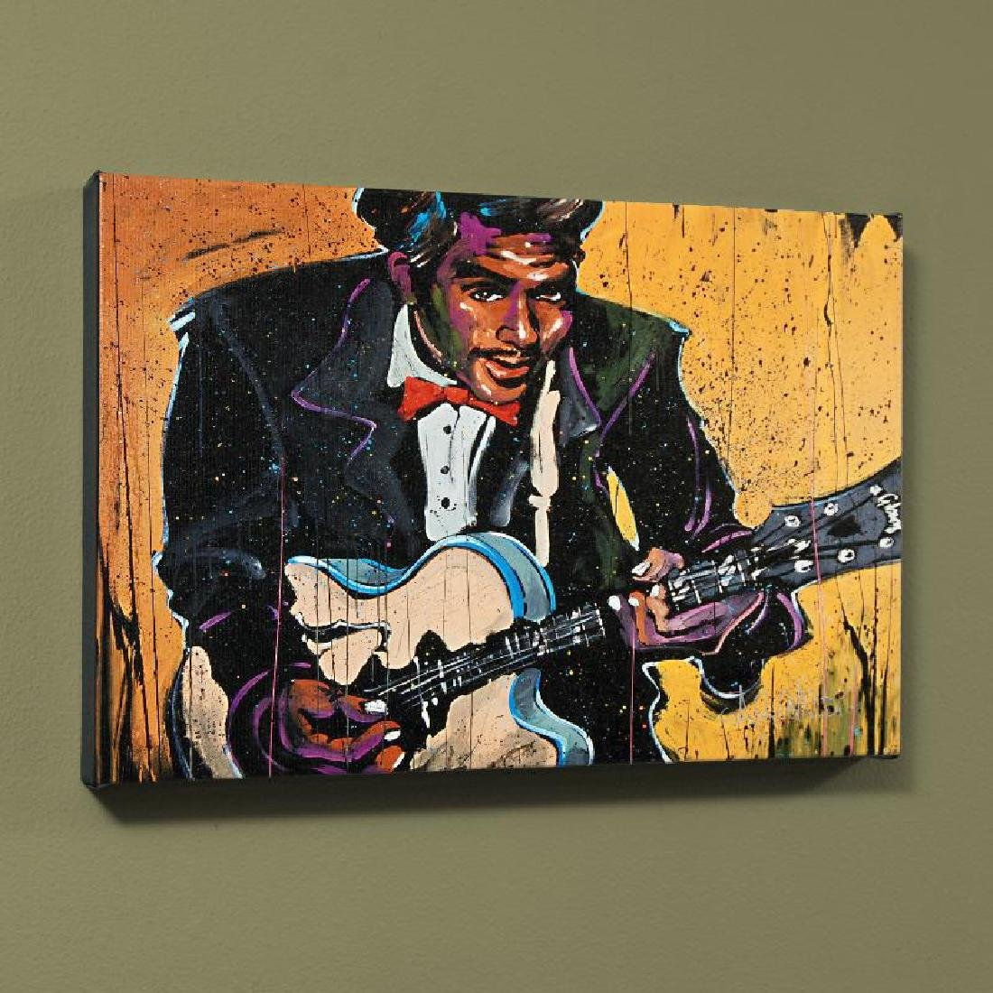 """""""Chuck Berry (Chuck)"""" LIMITED EDITION Giclee on Canvas"""