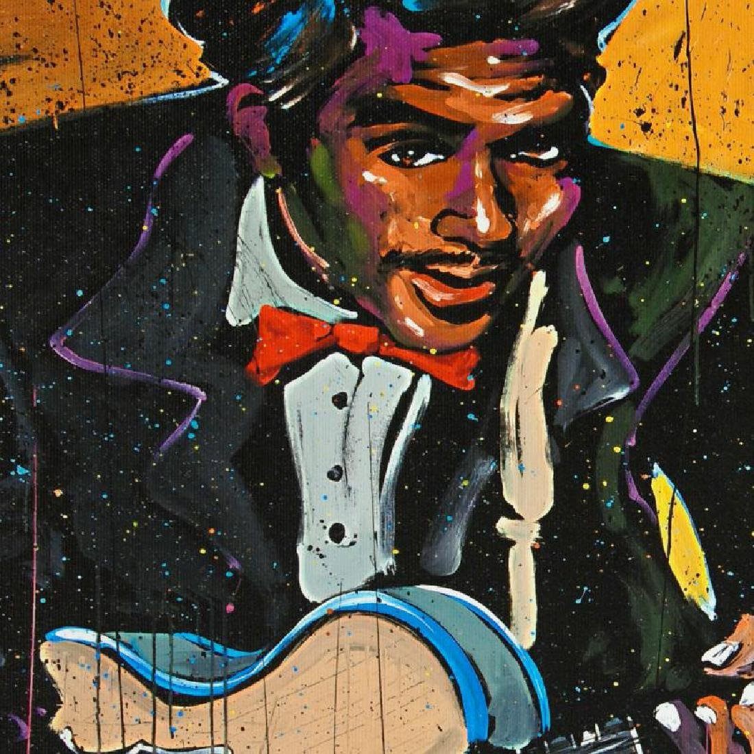 """""""Chuck Berry (Chuck)"""" LIMITED EDITION Giclee on Canvas - 2"""