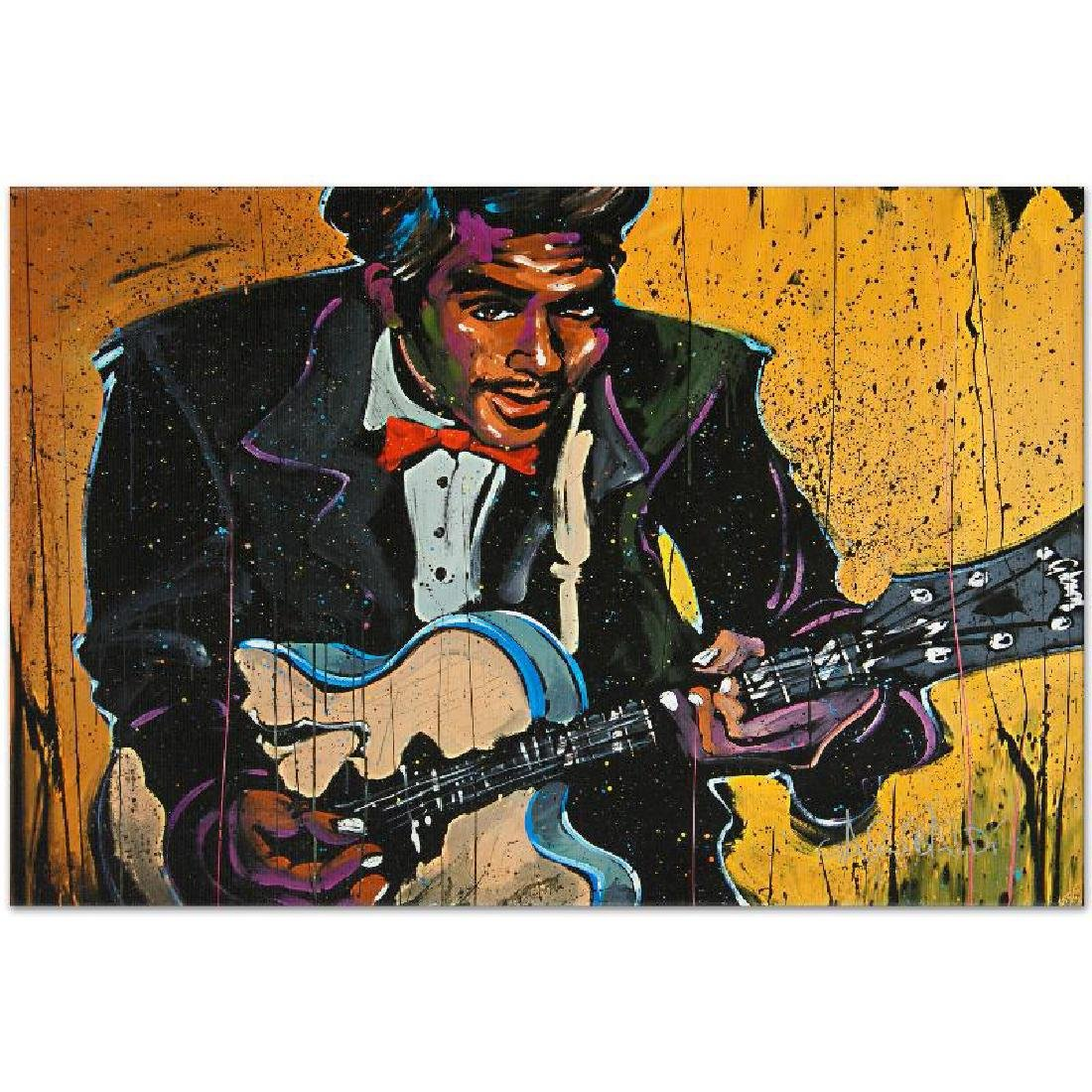 """""""Chuck Berry (Chuck)"""" LIMITED EDITION Giclee on Canvas - 3"""