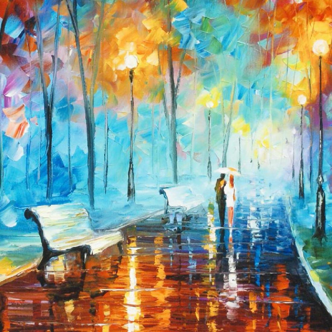 """""""Misty Mood"""" LIMITED EDITION Giclee on Canvas by Leonid - 2"""
