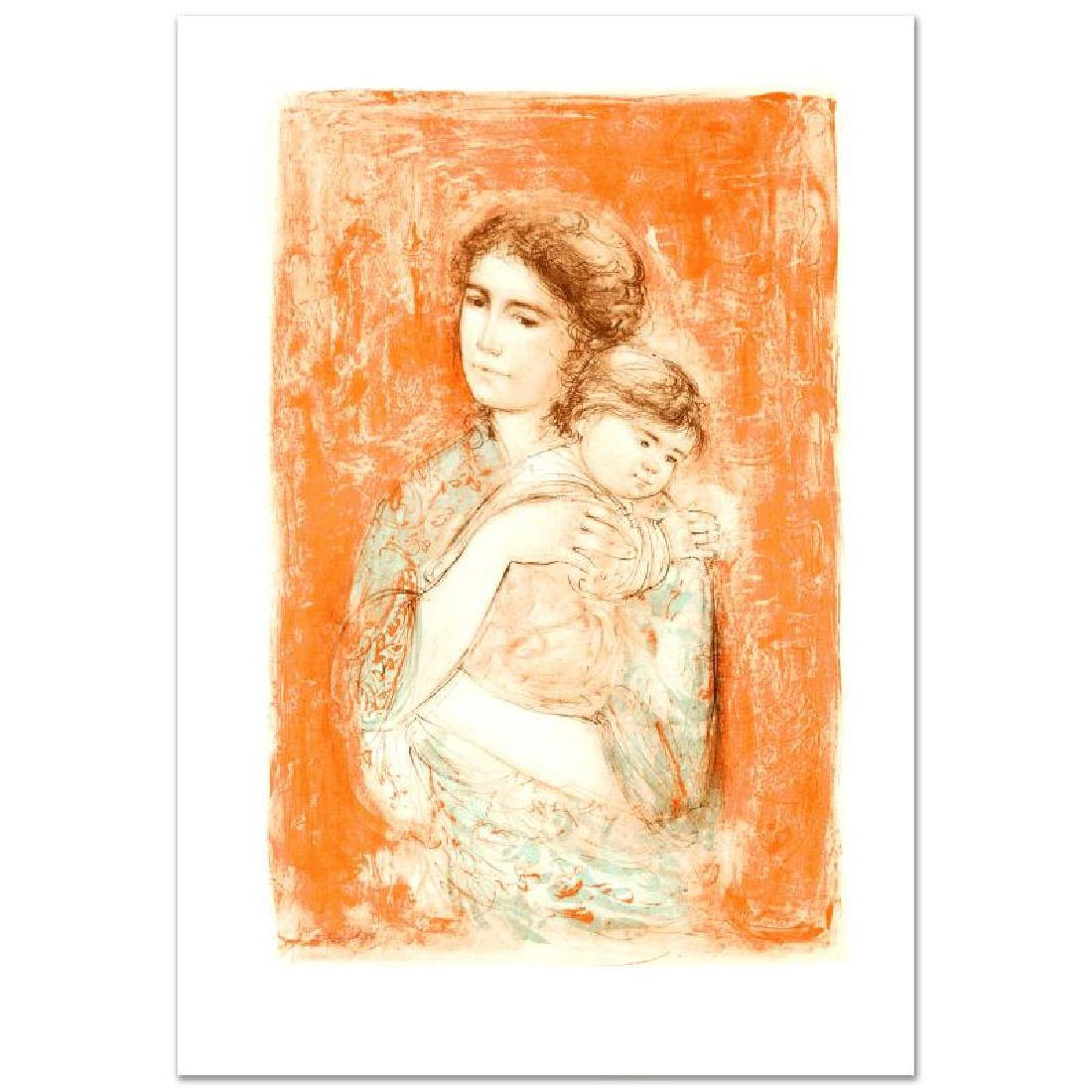 """Leona and Baby"" Limited Edition Lithograph by Edna"