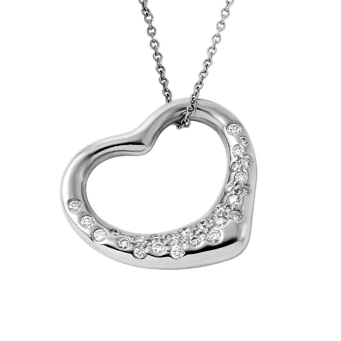 Tiffany & Co. Elsa Peretti Platinum Necklace - 2