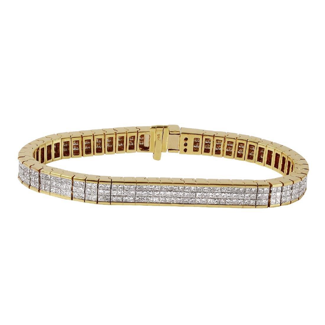18KT Yellow Gold Diamond Bracelet