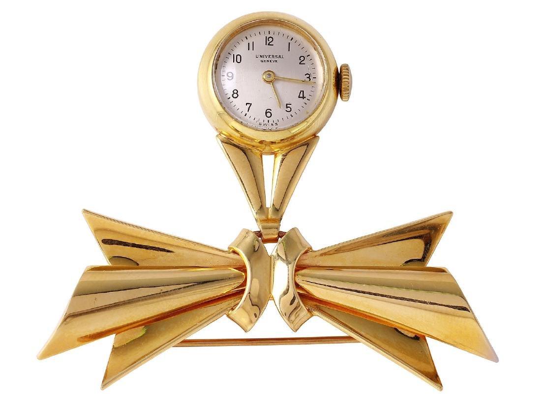 Vintage Geneve 14KT Yellow Gold Nurse's Watch Brooch