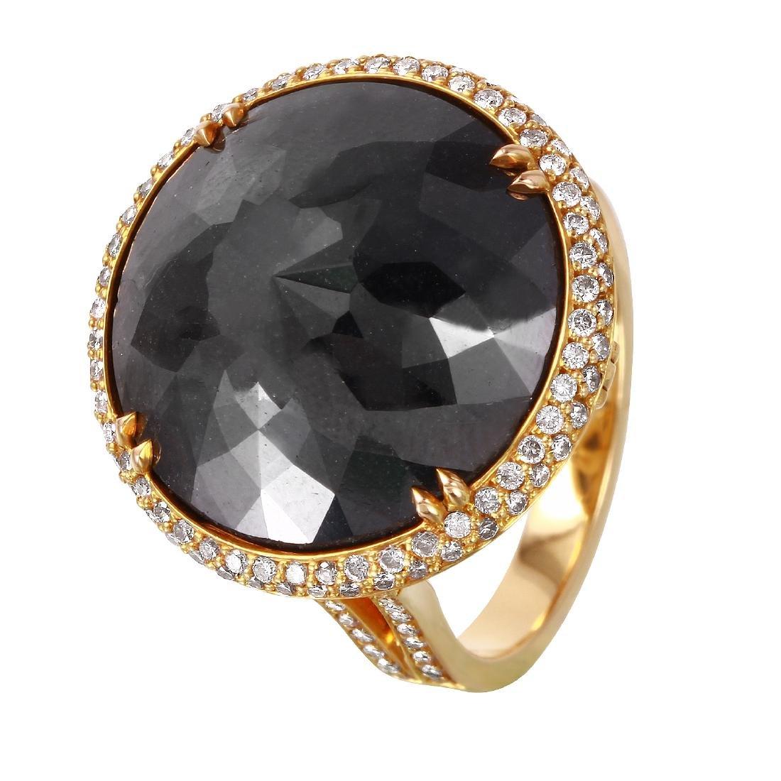 18KT Rose Gold Diamond Ring & Pendnat Set
