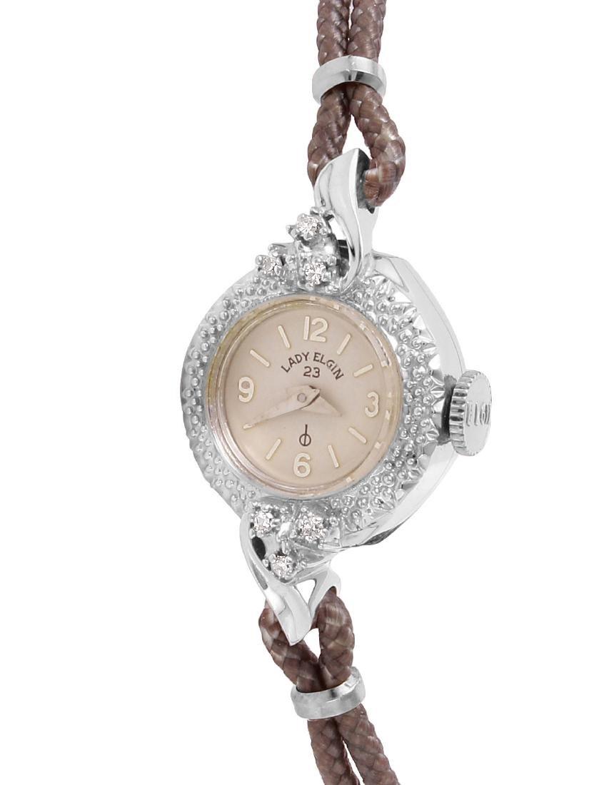 Lady Elgin 23 Diamond 14KT White Gold Watch
