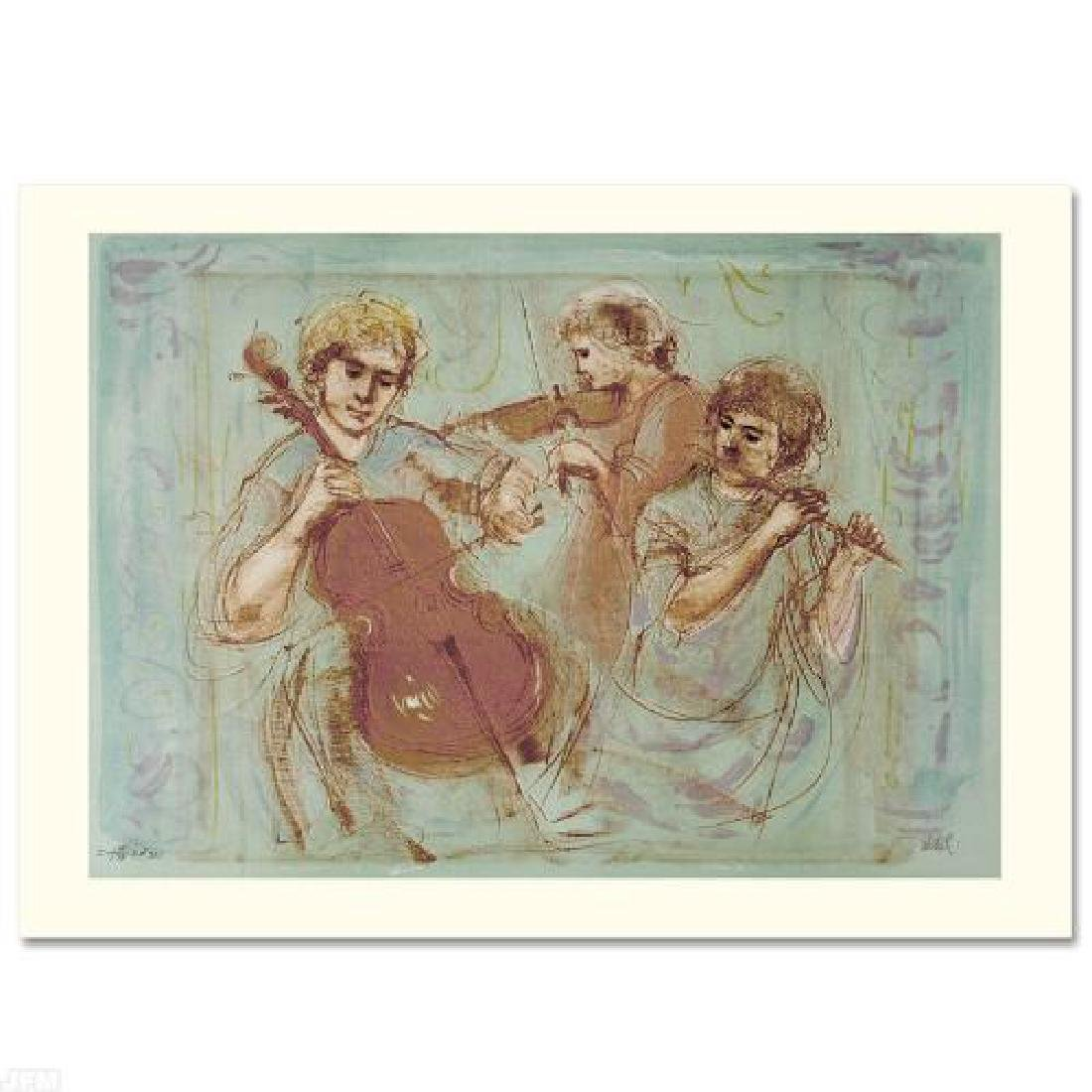 Trio LIMITED EDITION Lithograph by Edna Hibel