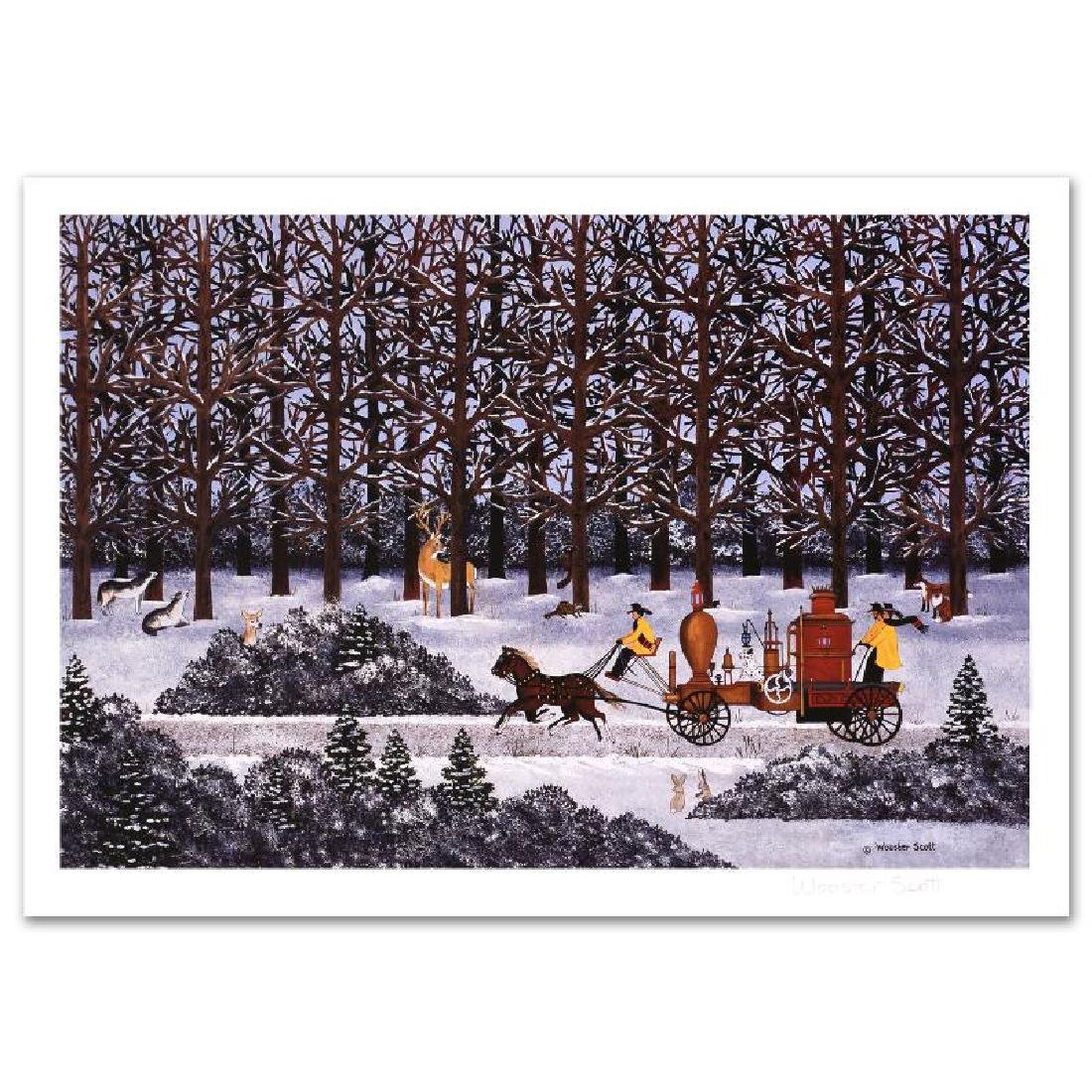 Dashing Through the Snow Limited Edition Lithograph by