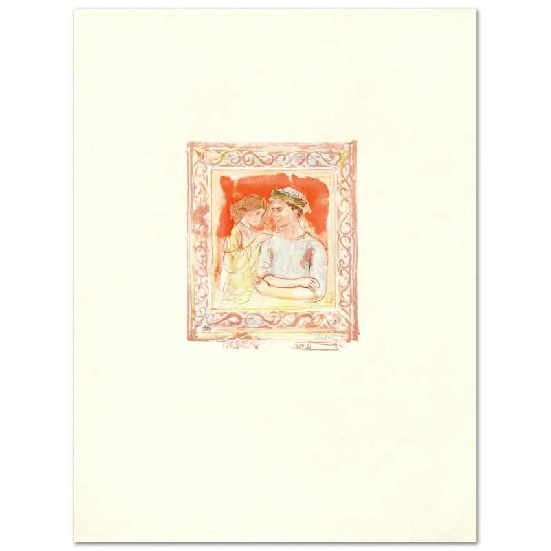 """Romance"" Limited Edition Lithograph by Edna Hibel"