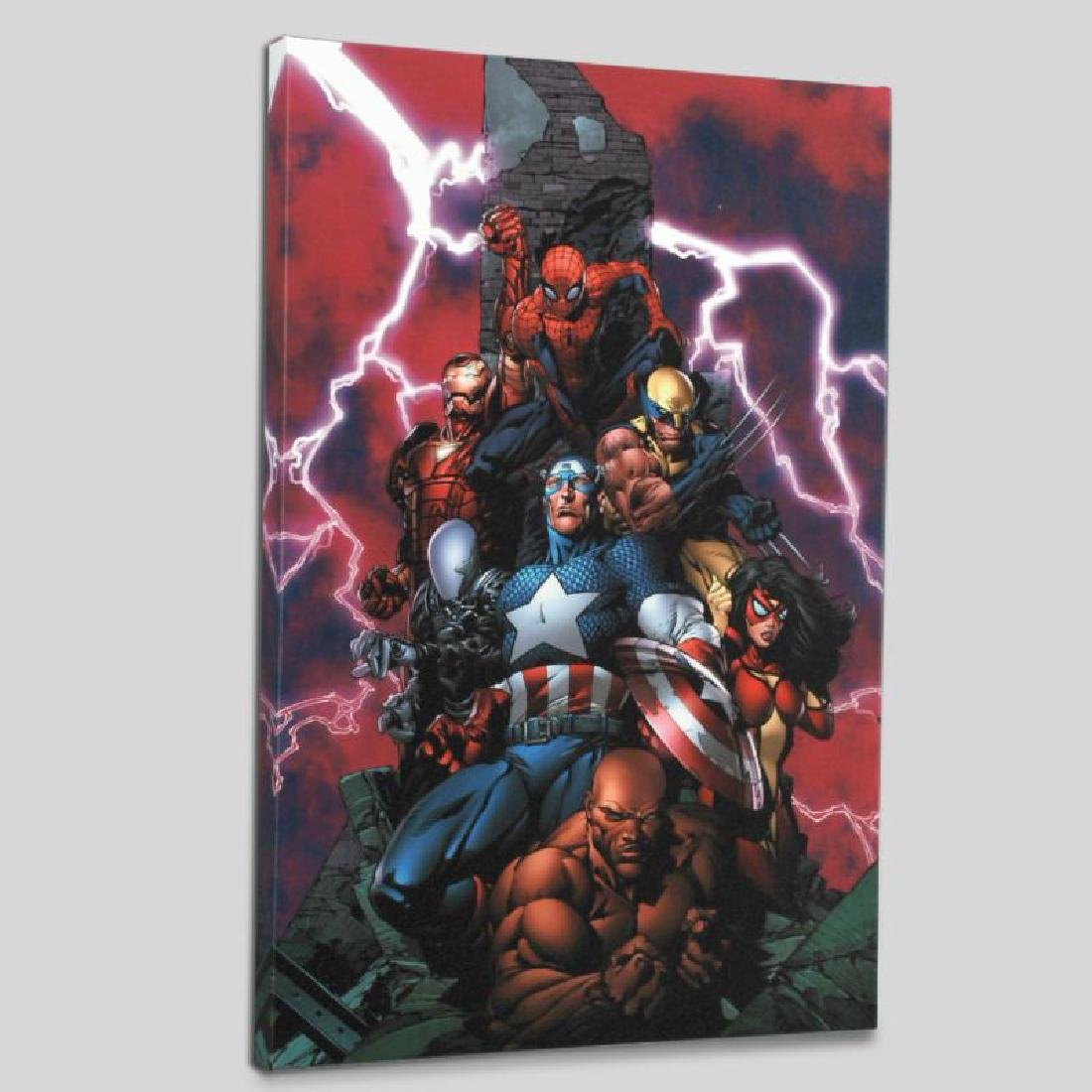 """New Avengers #1"" LIMITED EDITION Giclee on Canvas by"