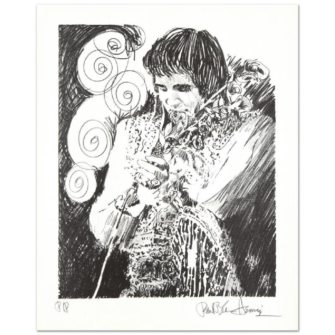 """Elvis (Holding Mic)"" Limited Edition Serigraph by Paul"