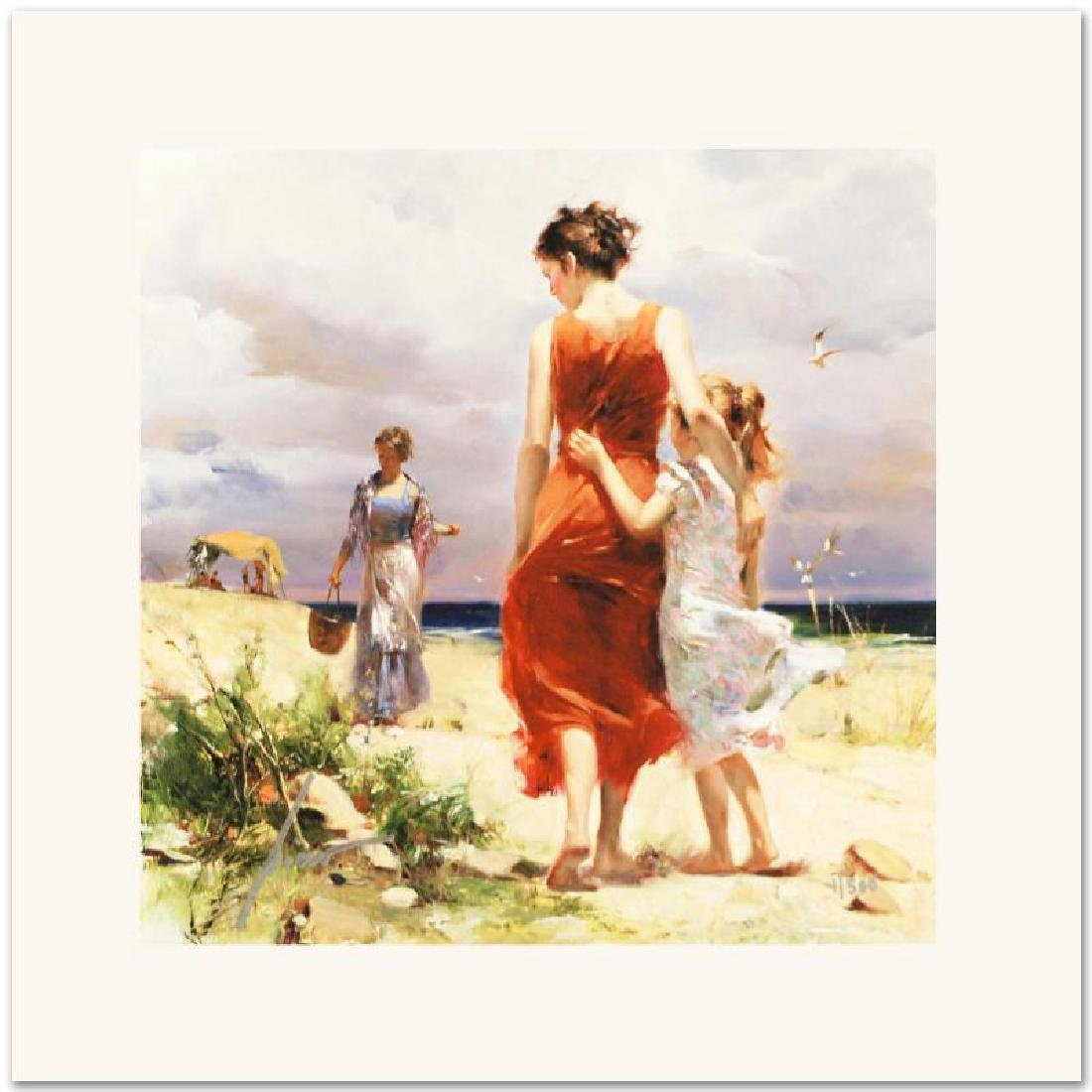 Breezy Days Limited Edition Giclee on Canvas by Pino