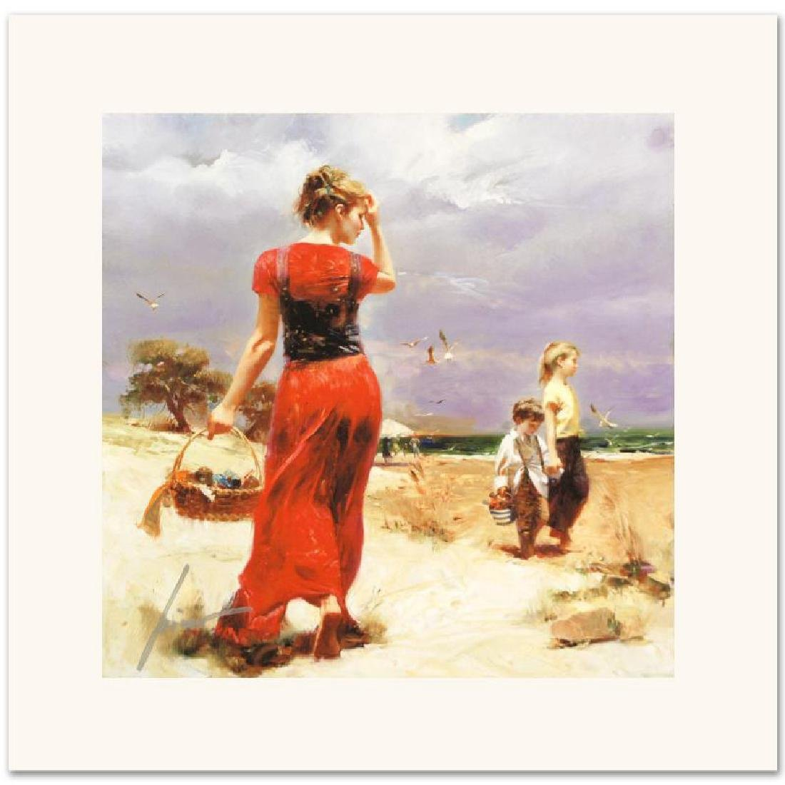 Seaside Gathering Limited Edition Giclee on Canvas by