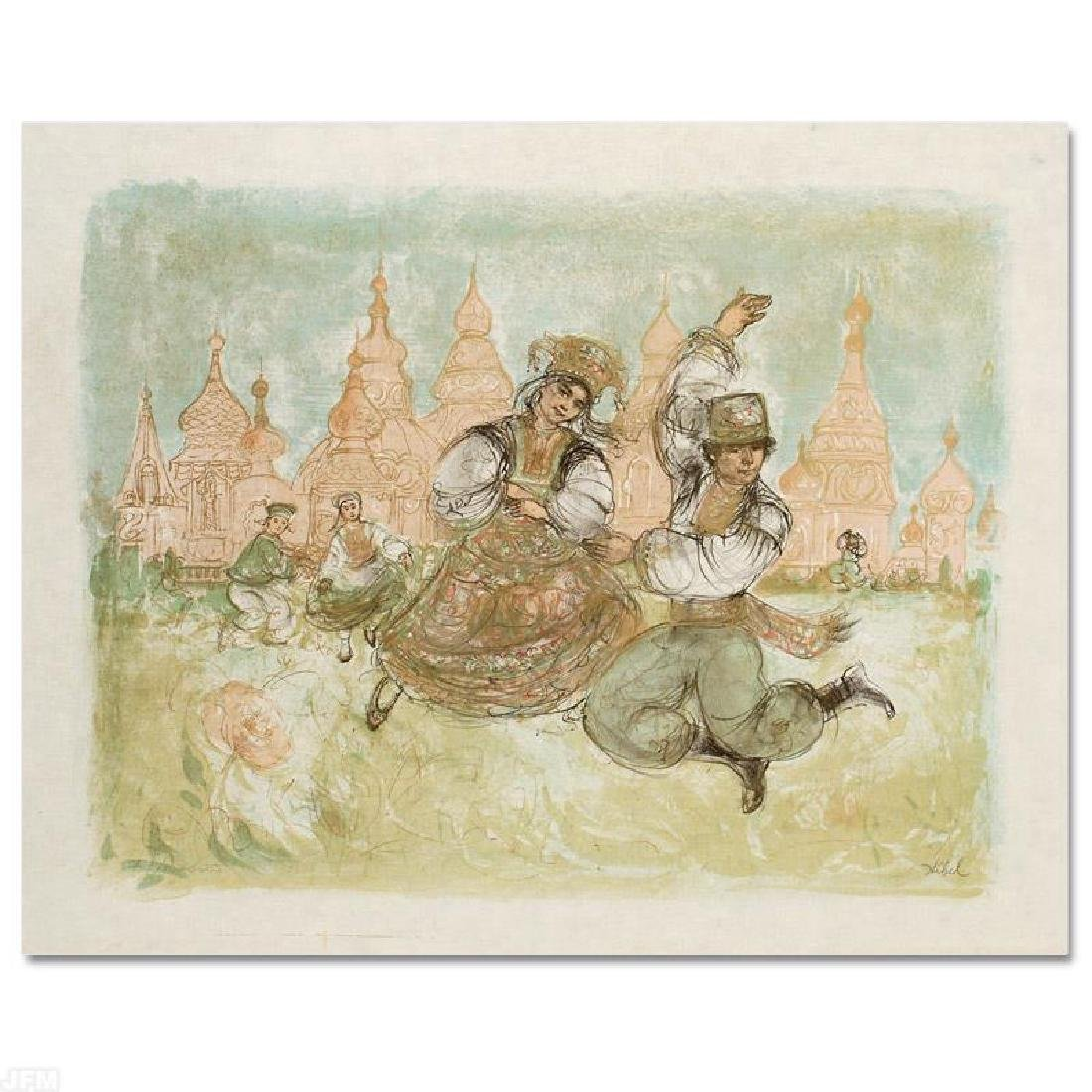 """Russian Dancers"" Limited Edition Lithograph by Edna"