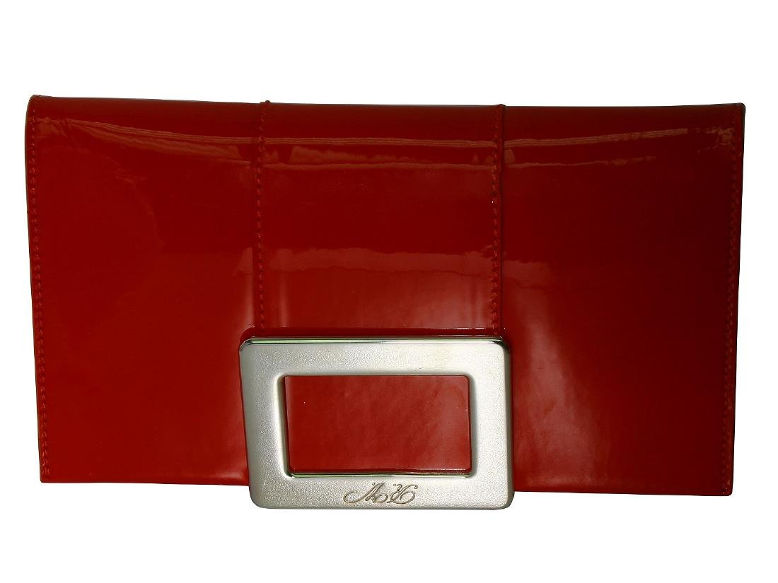 Roger Vivier Purse Red Patent Leather with Bag