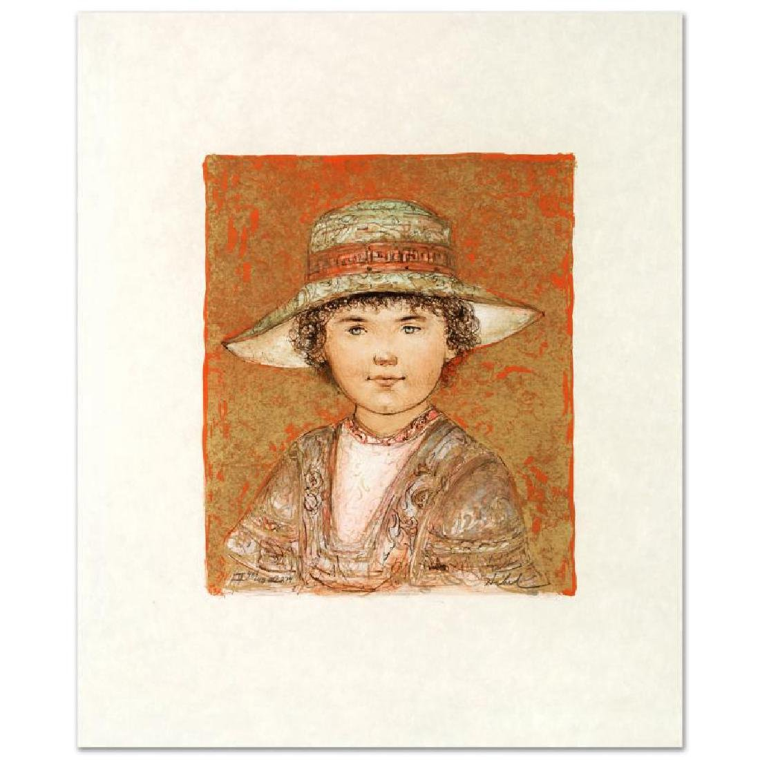 """""""Jill Ann"""" Limited Edition Lithograph by Edna Hibel"""