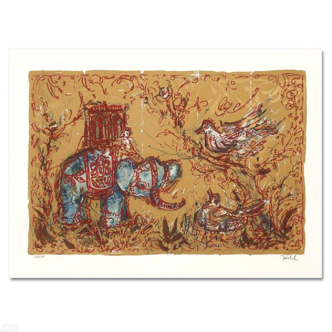 """""""Elephant Parade"""" Limited Edition Lithograph by Edna"""