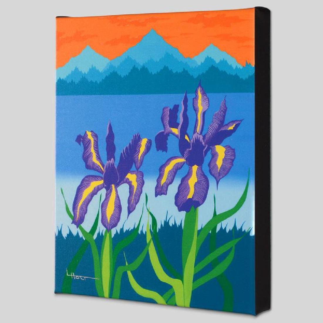 """""""Iris Lake"""" Limited Edition Giclee on Canvas by Larissa"""