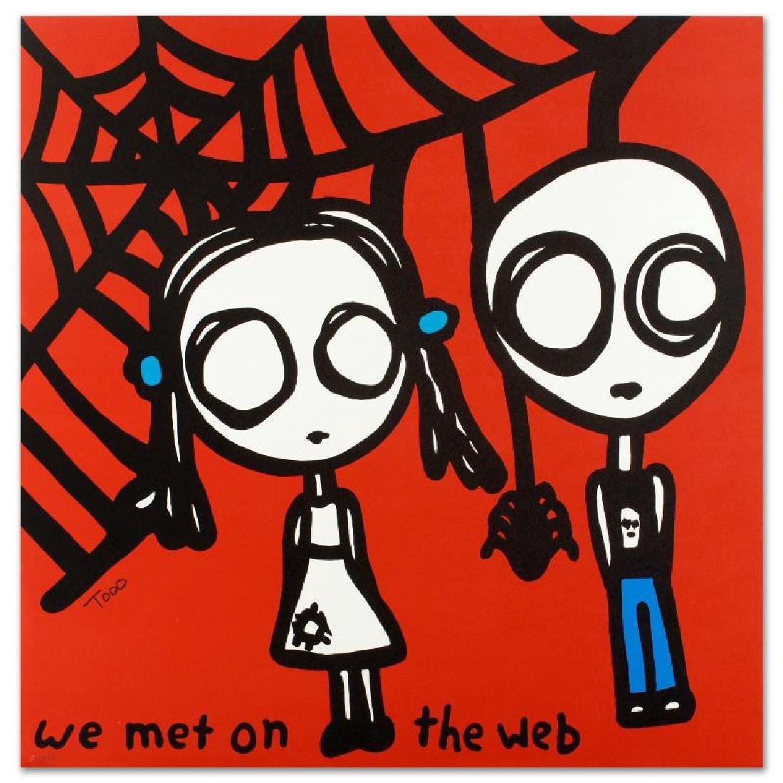 """""""We Met on the Web"""" Limited Edition Lithograph by Todd"""