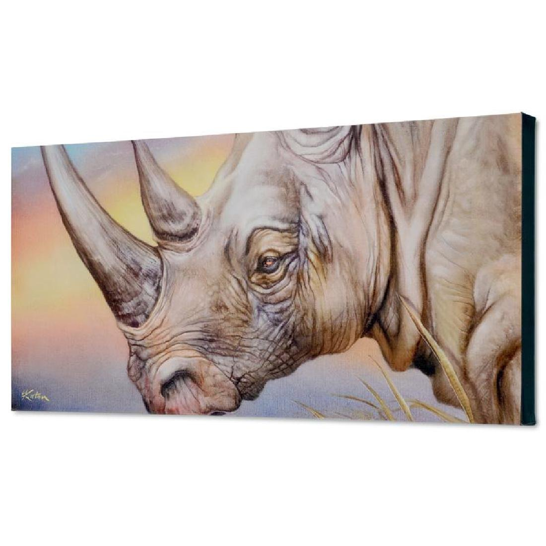 """""""White Rhino"""" Limited Edition Giclee on Canvas by"""