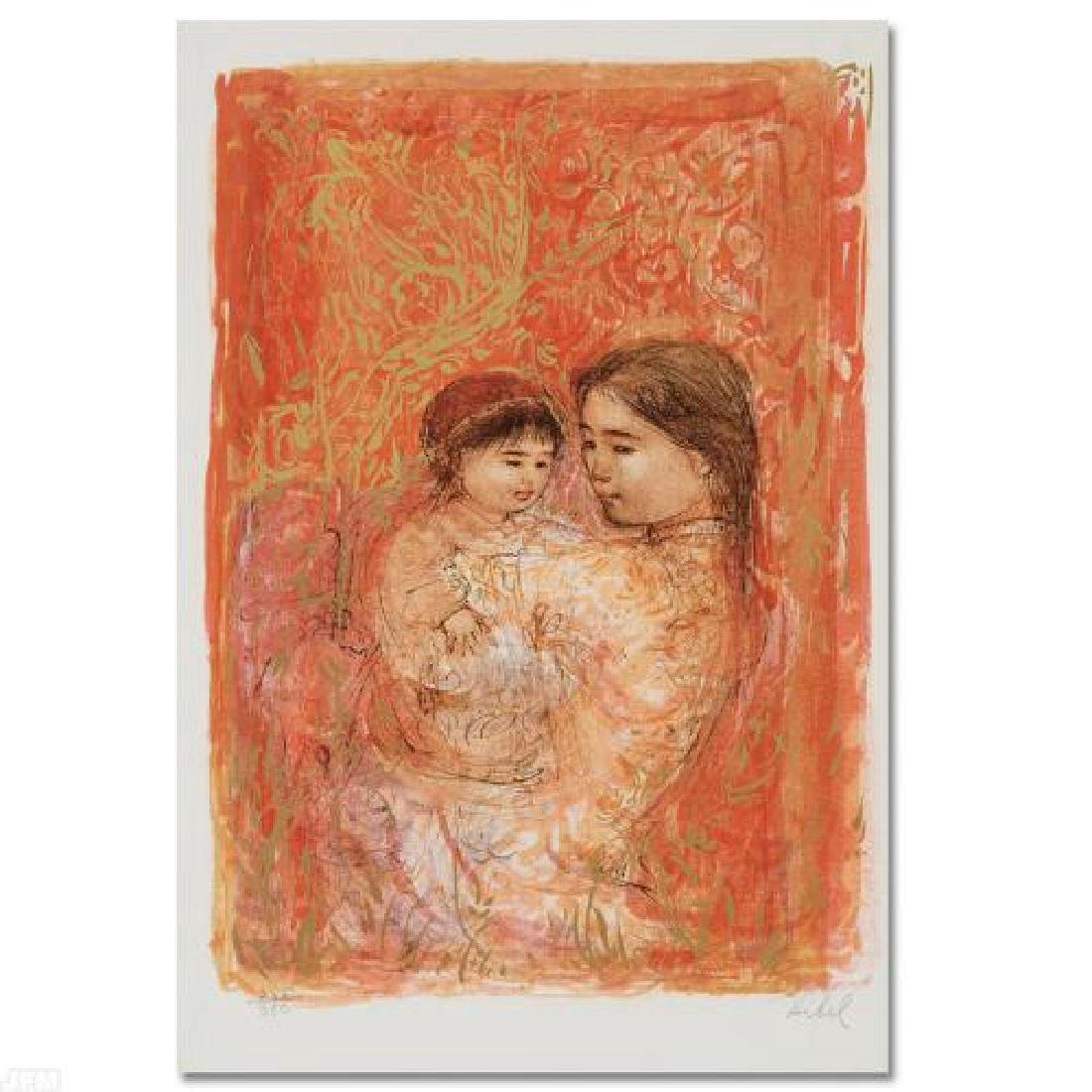 Thai Family Limited Edition Lithograph by Edna Hibel