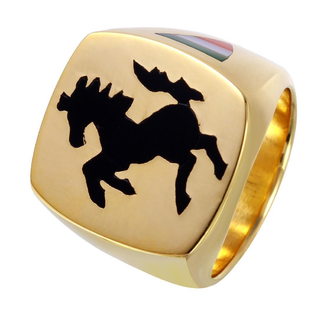 Gent's Ferrari Design 18KT Yellow Gold  Ring