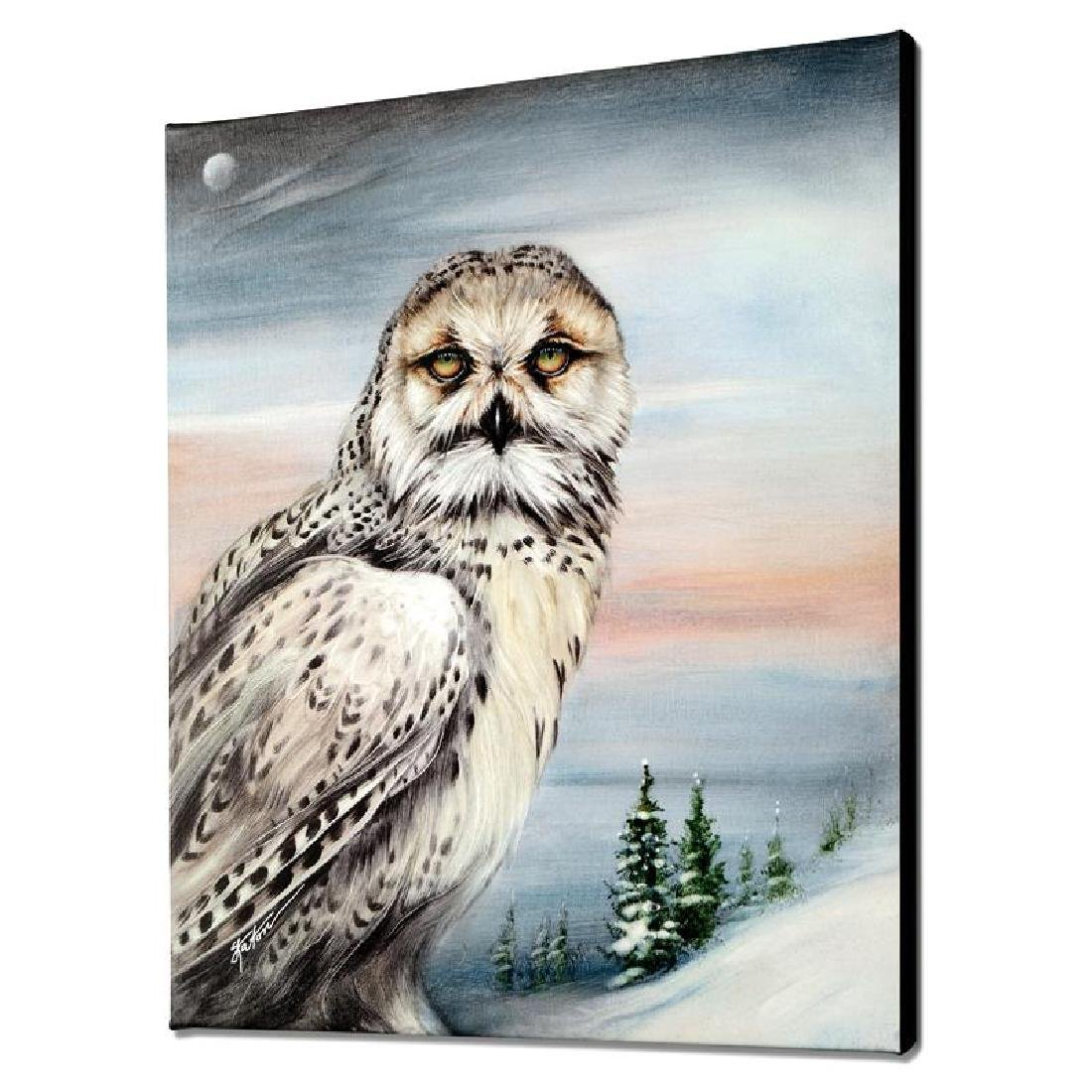 """""""Snow Owl in Alaska"""" Limited Edition Giclee on Canvas"""