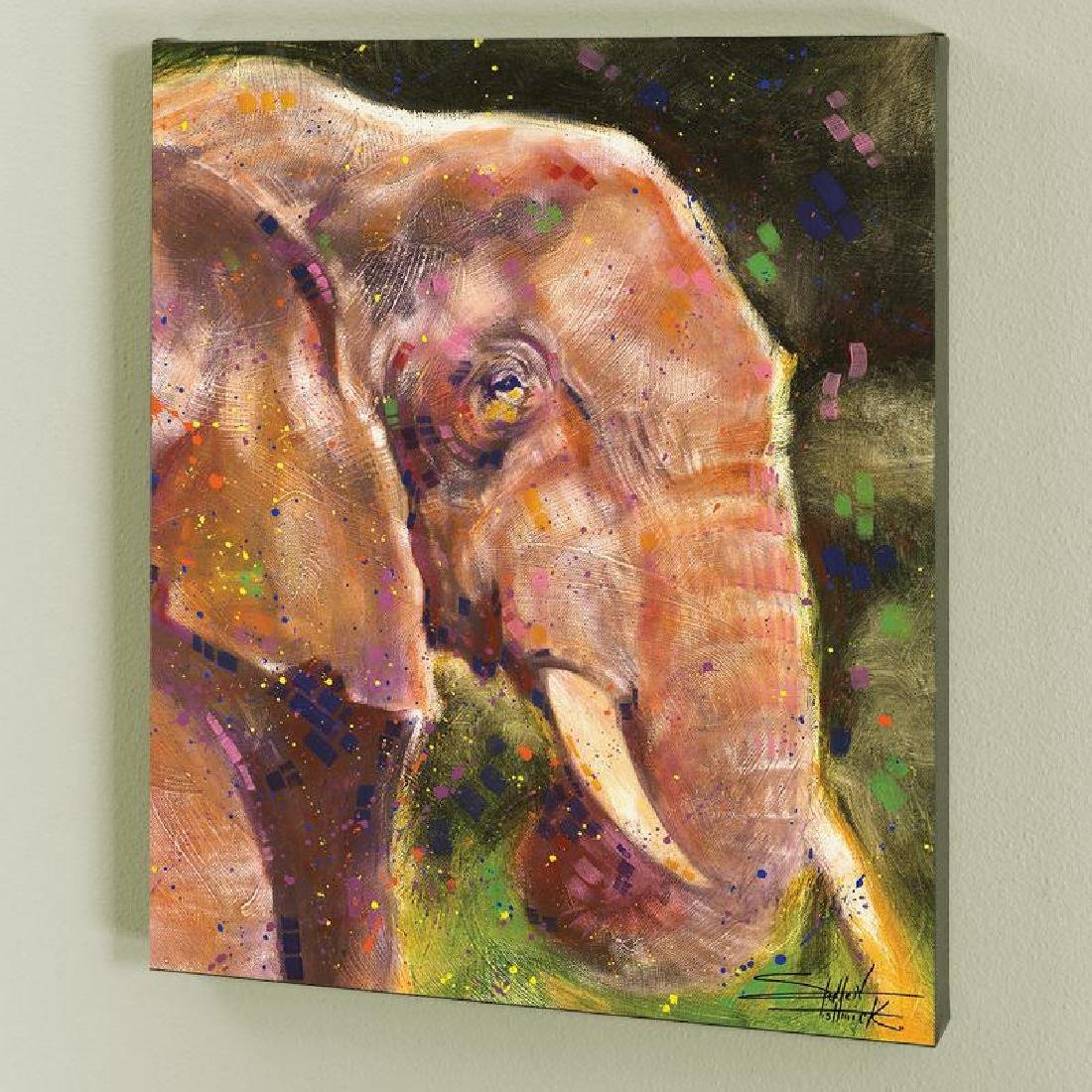 """""""Elephant"""" LIMITED EDITION Giclee on Canvas by Stephen"""