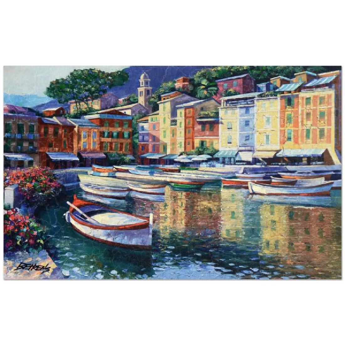 "Howard Behrens (1933-2014) - ""Portofino Harbor"" Limited"