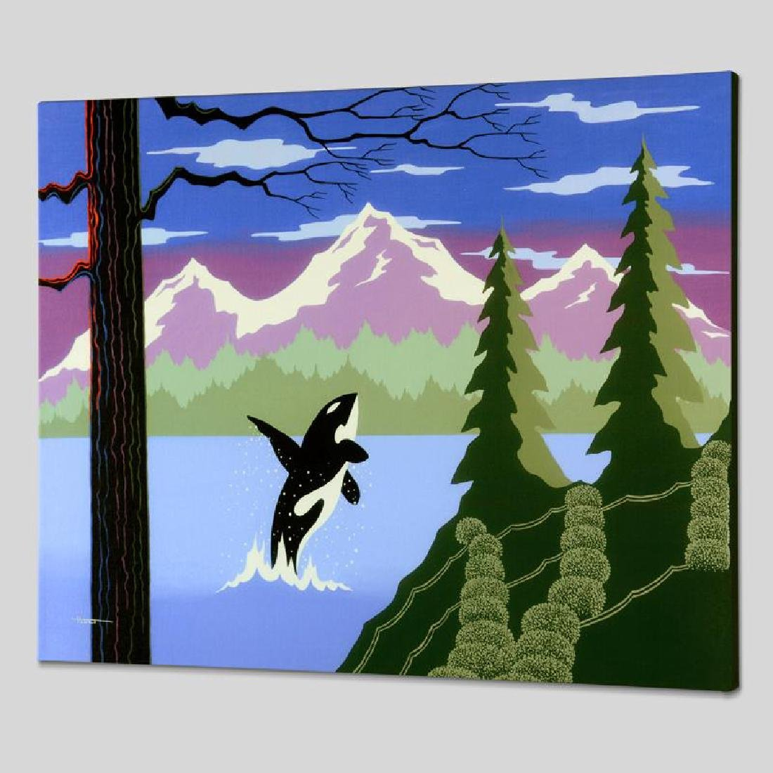 """""""Orca"""" Limited Edition Giclee on Canvas by Larissa"""