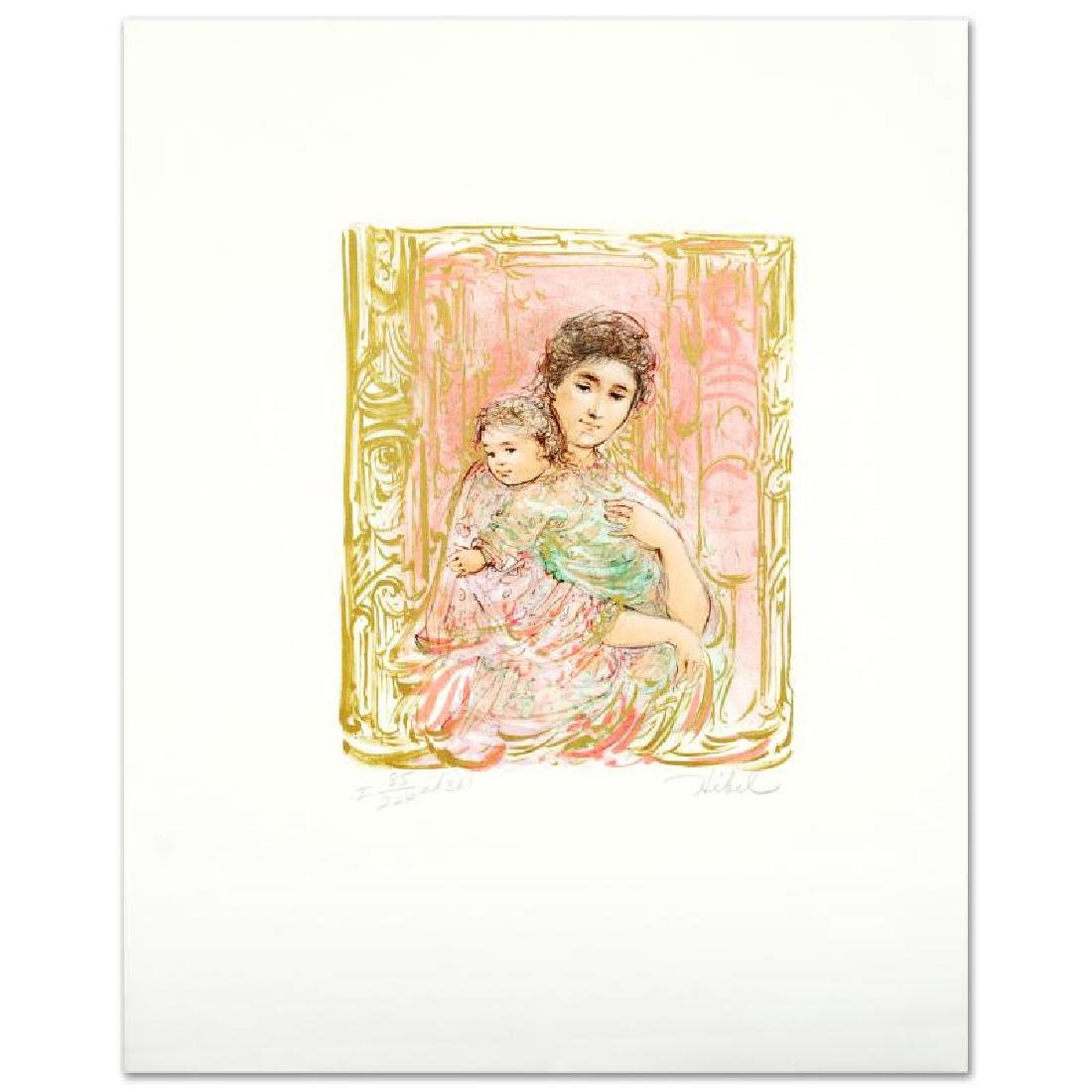 """""""Willa And Child"""" Limited Edition Lithograph by Edna"""