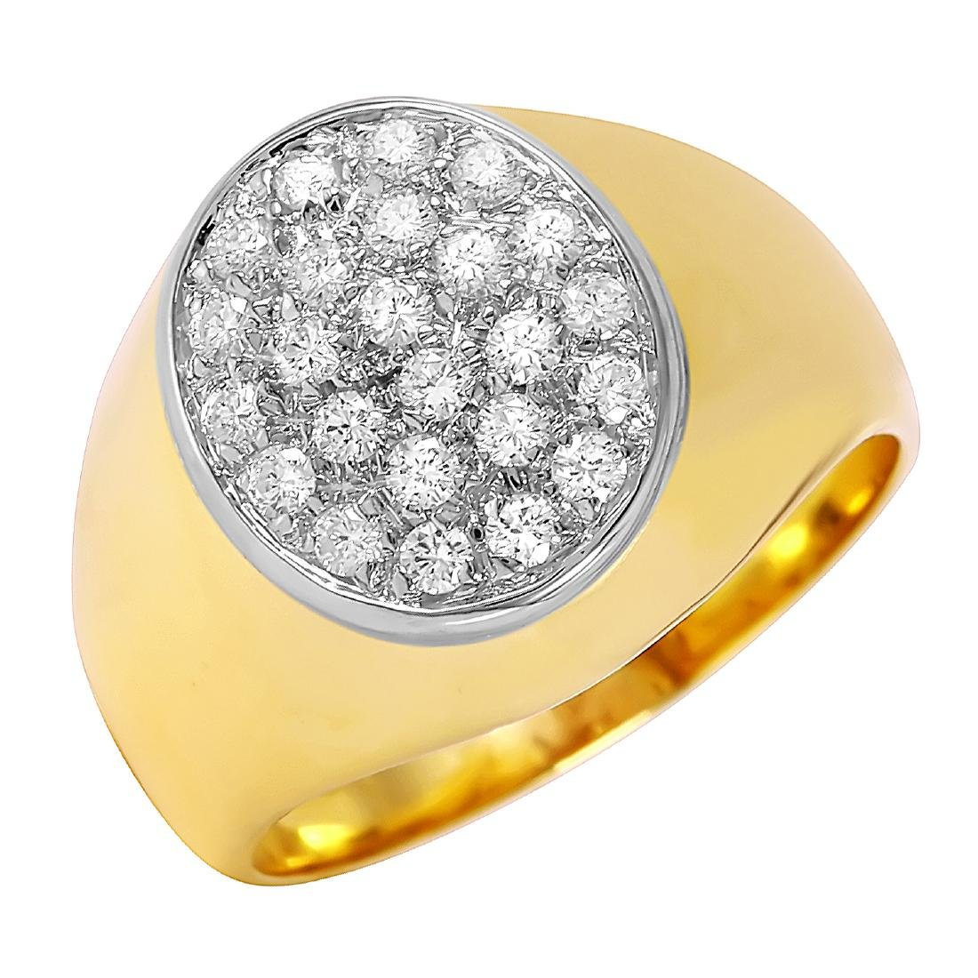 18KT Yellow Gold Diamond Pave Ring