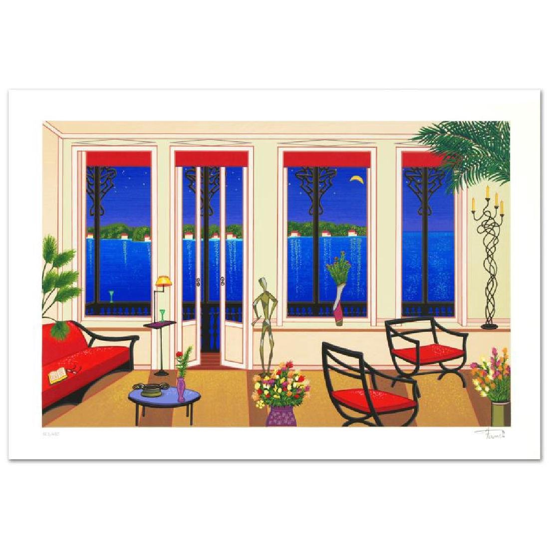 """Balcony Over Bahia"" Limited Edition Serigraph By Fanch"