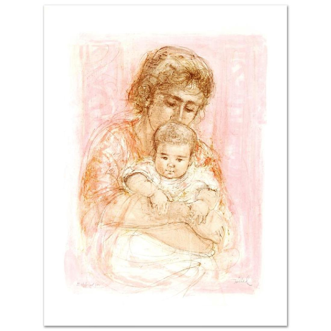 """""""Gina and Child"""" Limited Edition Lithograph by Edna"""
