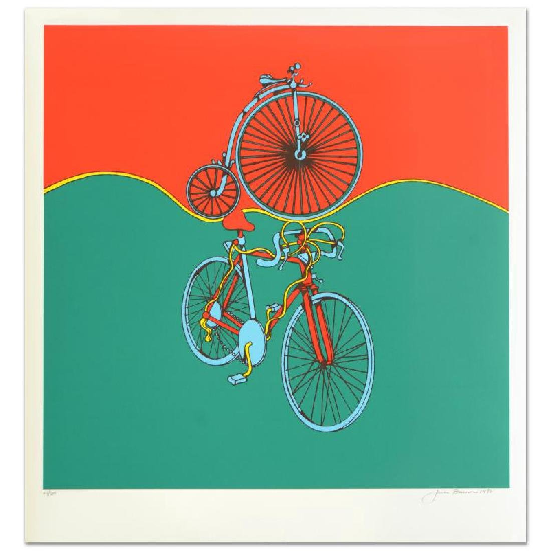 """Bicycle"" Limited Edition Serigraph by Jack Brusca"