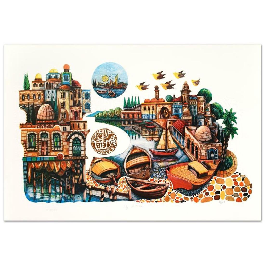 """""""City of Jaffa"""" Embossed Limited Edition Lithograph"""