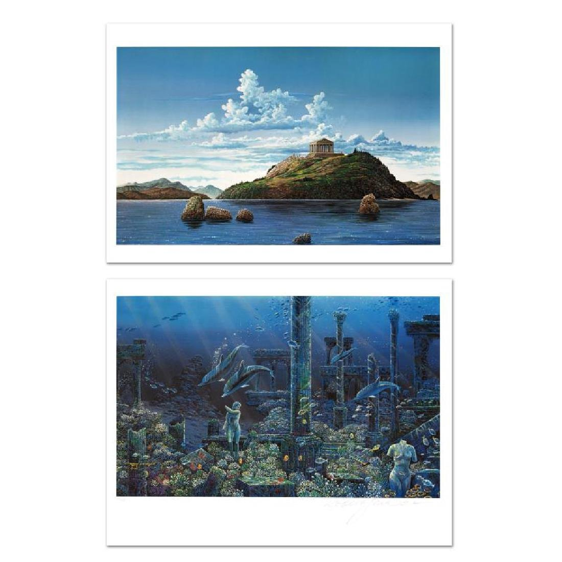 Athenian Odyssey Limited Edition Mixed Media Diptych by