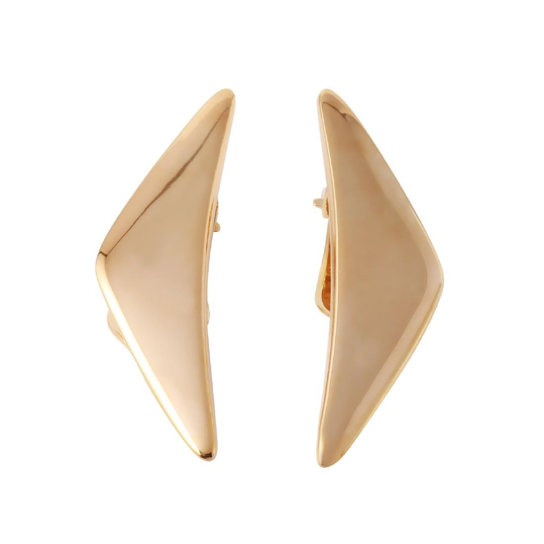 Hans Hansen 14KT Yellow Gold Clip-On Earrings