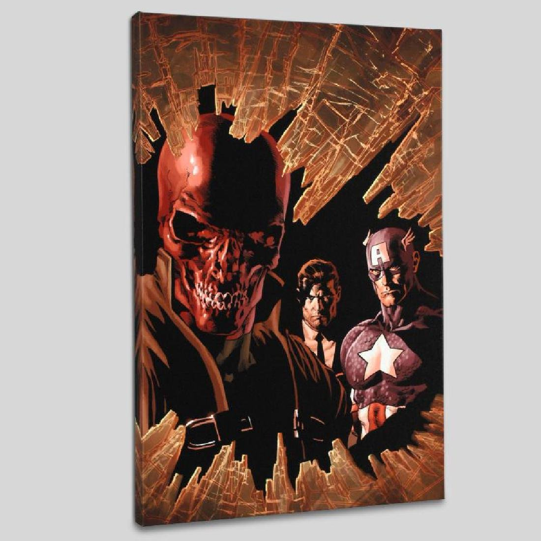 """""""New Avengers #12"""" LIMITED EDITION Giclee on Canvas by"""