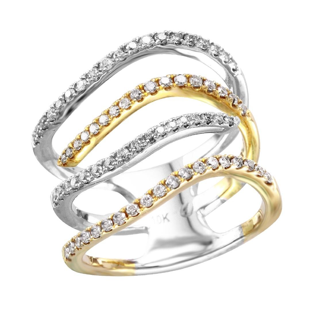 10KT Two Tone Gold Diamond Ring