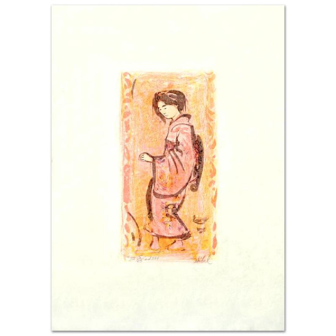 """Ume"" Limited Edition Lithograph by Edna Hibel"