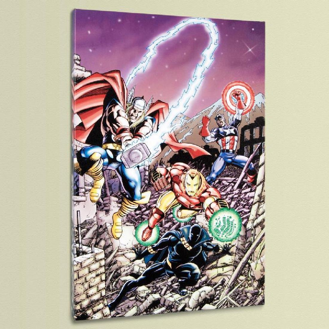 """""""Avengers #21"""" LIMITED EDITION Giclee on Canvas by"""