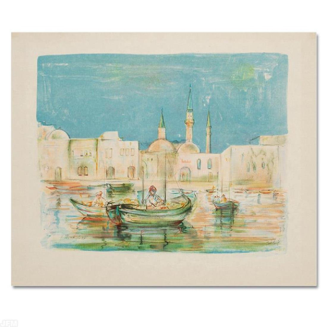 """Akko"" Limited Edition Lithograph by Edna Hibel"