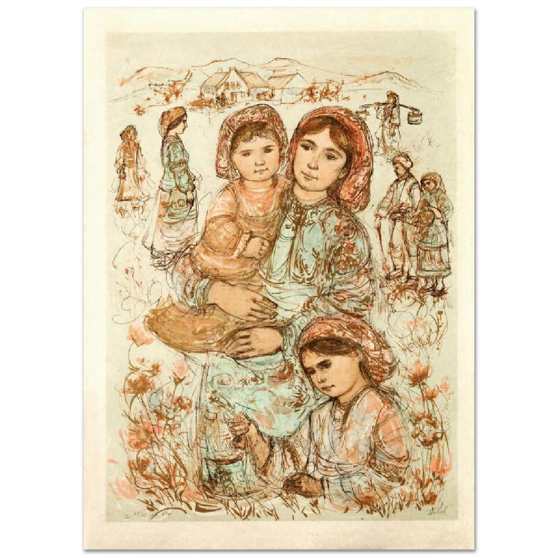 """Family in the Field"" Limited Edition Lithograph by"